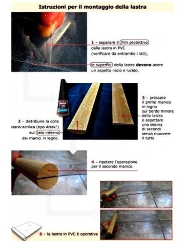 Lastra-lamina PVC senza manico